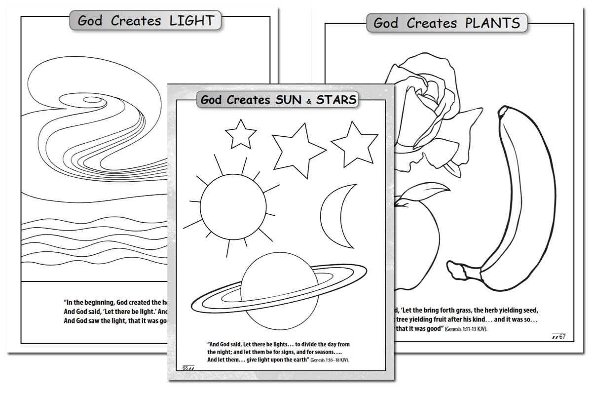 You can download this free Days of Creation Coloring Book at New Leaf Publishing Group. The download also i
