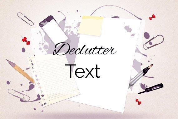 Declutter Text