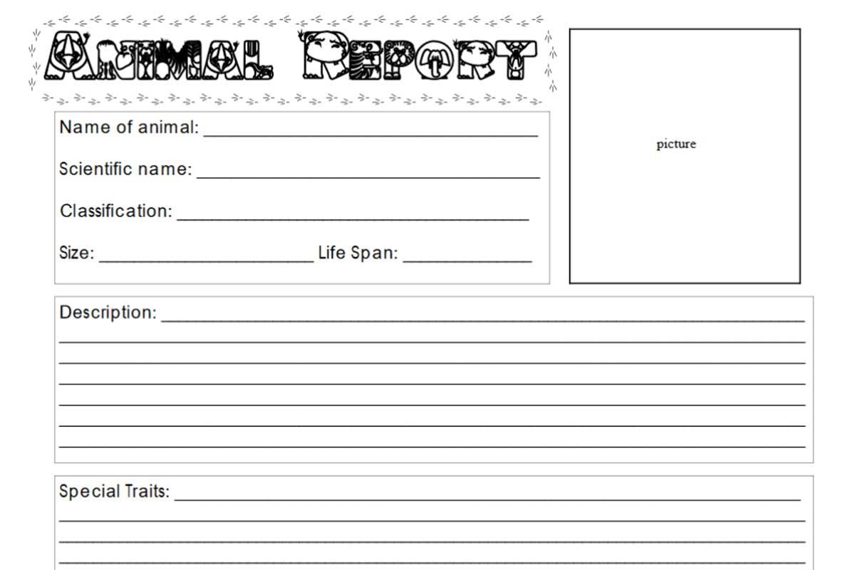 Animal Report Form {Free}