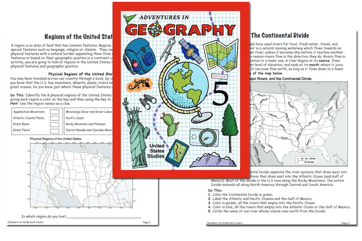 US Geography Activity Book ~ Free