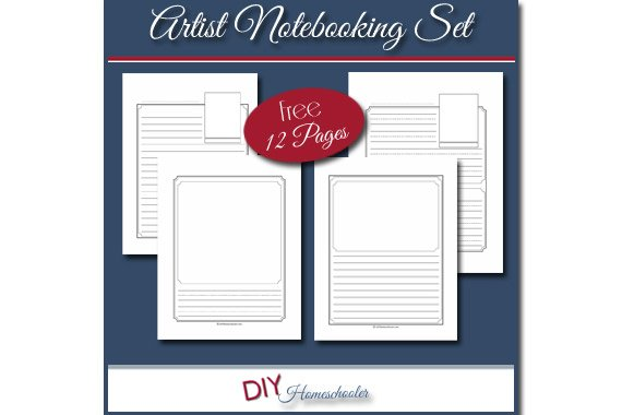 Artist Notebooking Pages Set {Free Download}