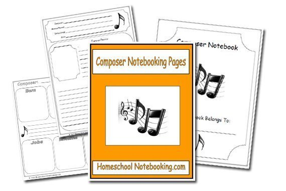 Free 18-Page Composer Notebooking Set