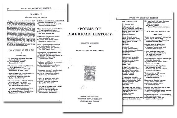 Poems of American History {Free eBook}