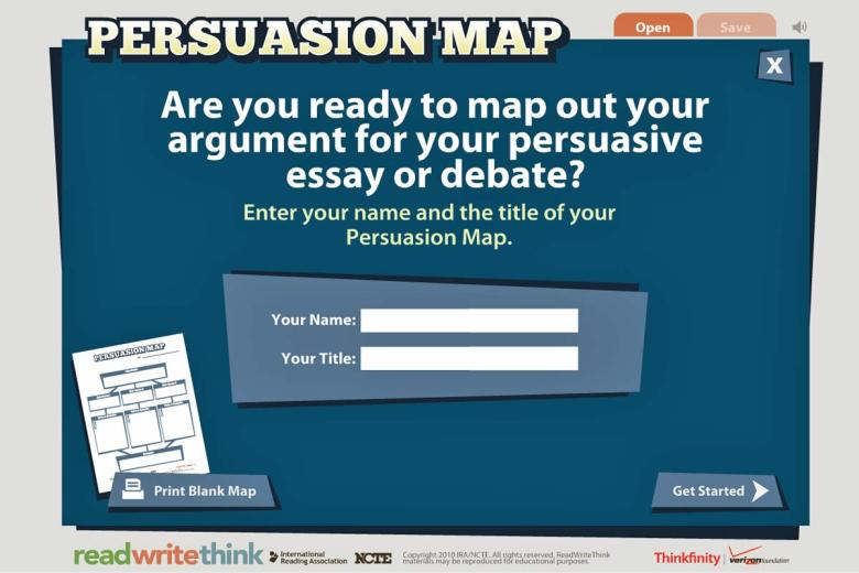 Persuasion Map for Persuasive Essays {Free Interactive}