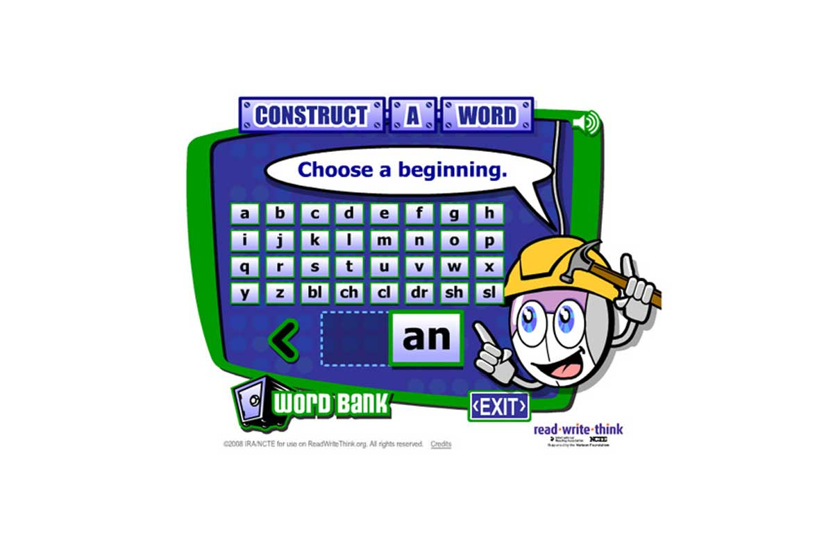 Construct-A-Word Phonics Interactive {Free}