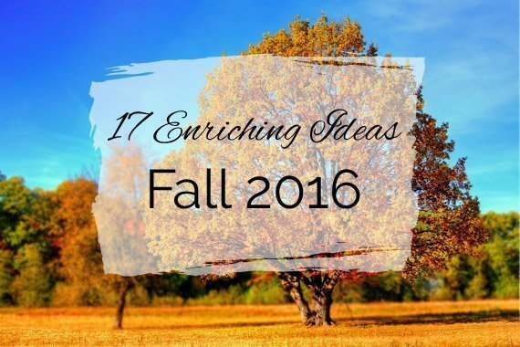 17 Enriching Ideas for Fall 2016