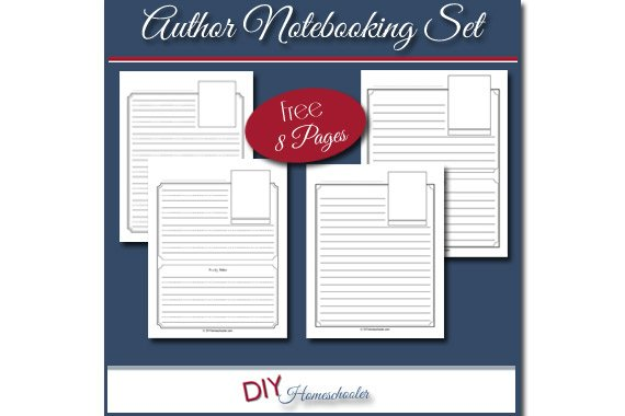 Author Notebooking Pages {Free Download}