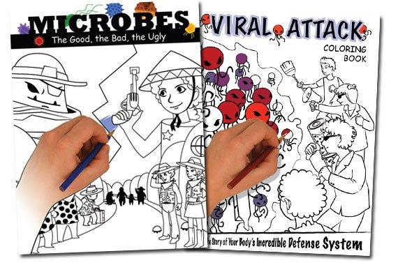 Microbes Coloring Comic Book {Free}
