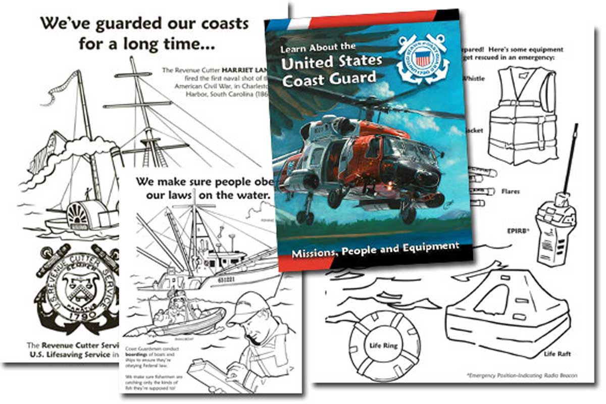 Learn About the U.S. Coast Guard {Free Coloring Book}