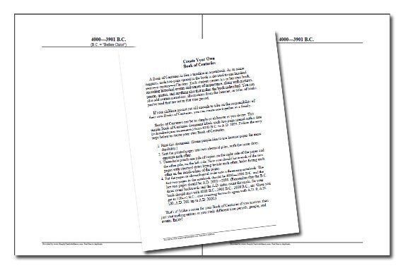 Book of Centuries {Free Blank Timeline}