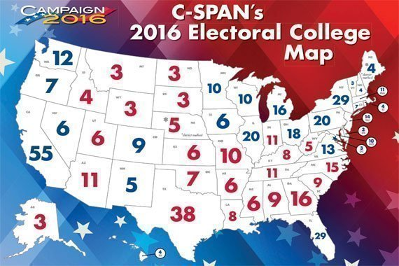 2016 Electoral College Map {Free}