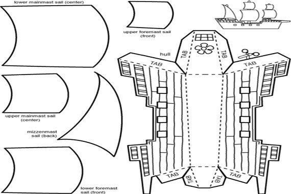 Mayflower Model Papercraft {Free}