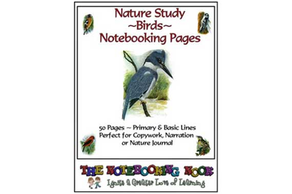 Bird Notebooking Pages {Free}