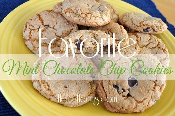 Favorite Mint Chocolate Chip Cookies