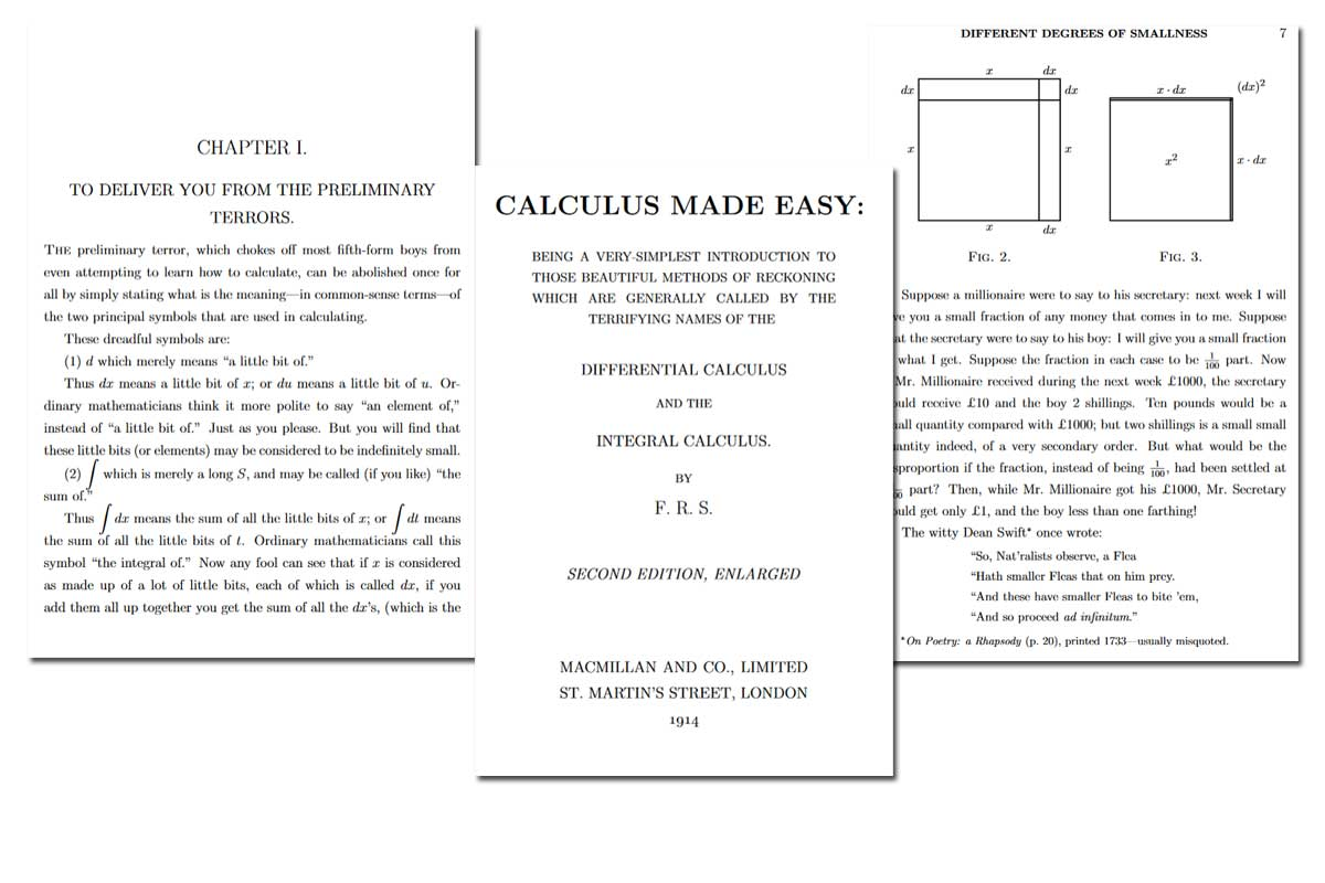 Calculus Made Easy ~ Free eBook