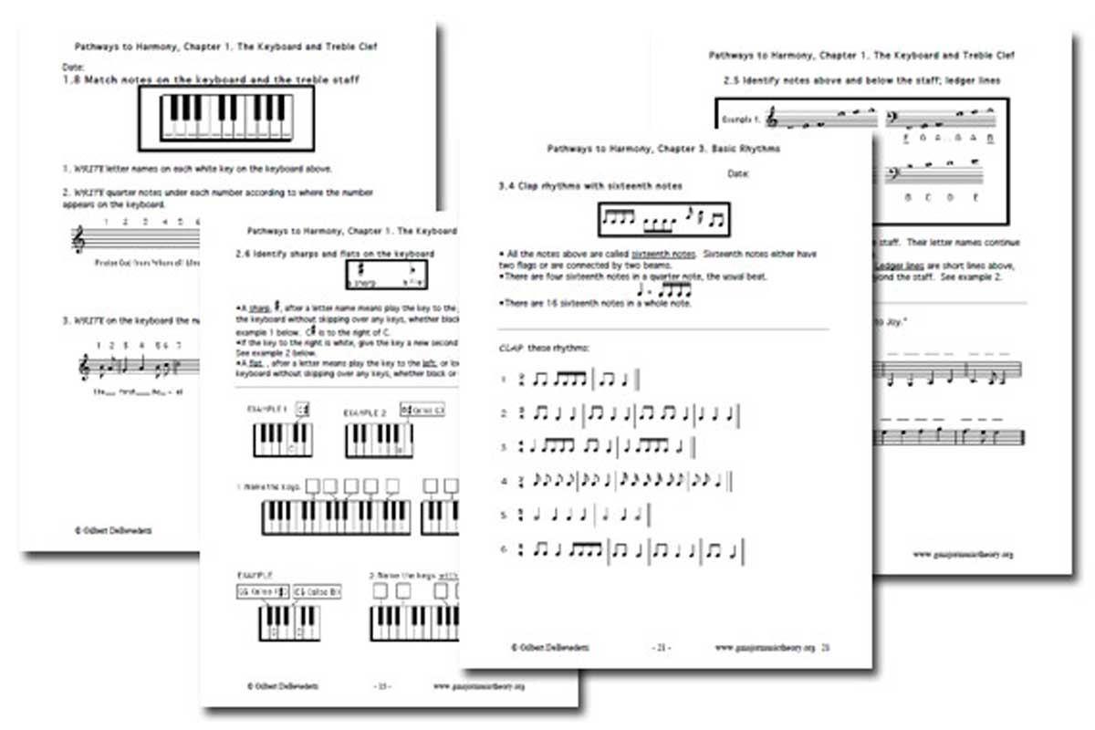 Music Theory Worksheets {Free}