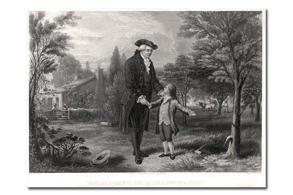 Free History Studies: George Washington and the Cherry Tree