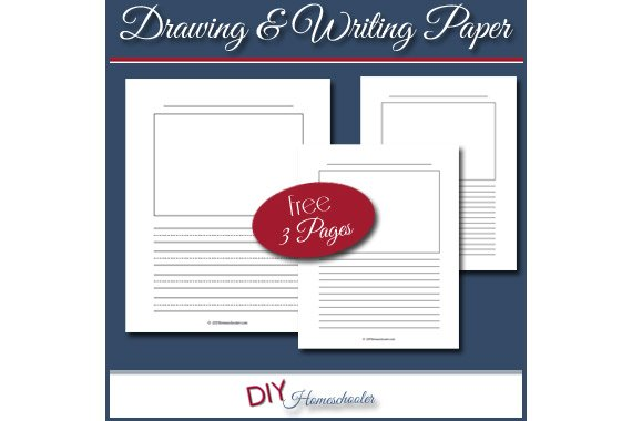 Drawing & Writing Notebooking Paper {Free Download}