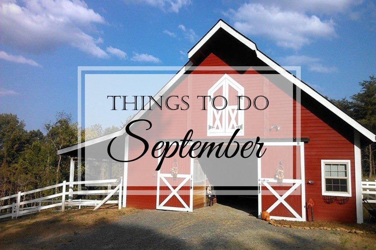 Things to Do: September