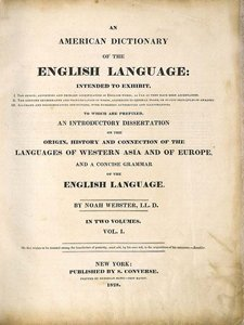 Webster's American Dictionary: A Unit Study