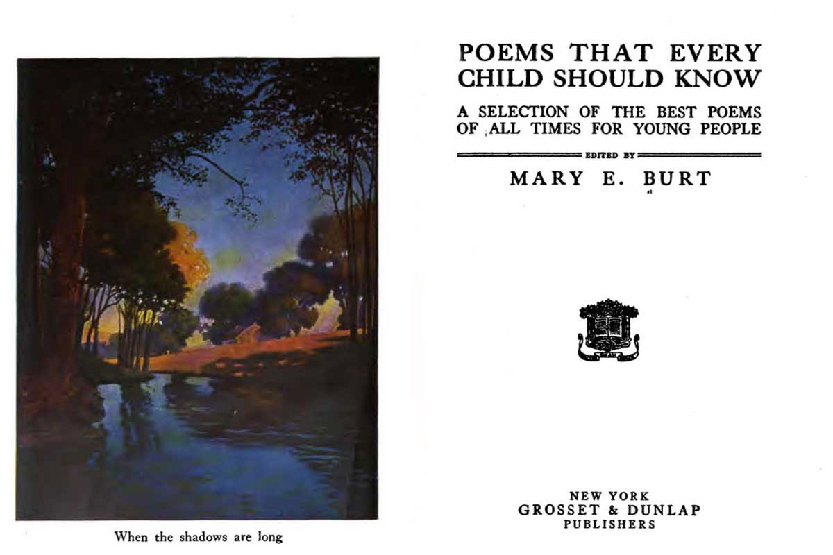 Poems Every Child Should Know ~ Free eBook