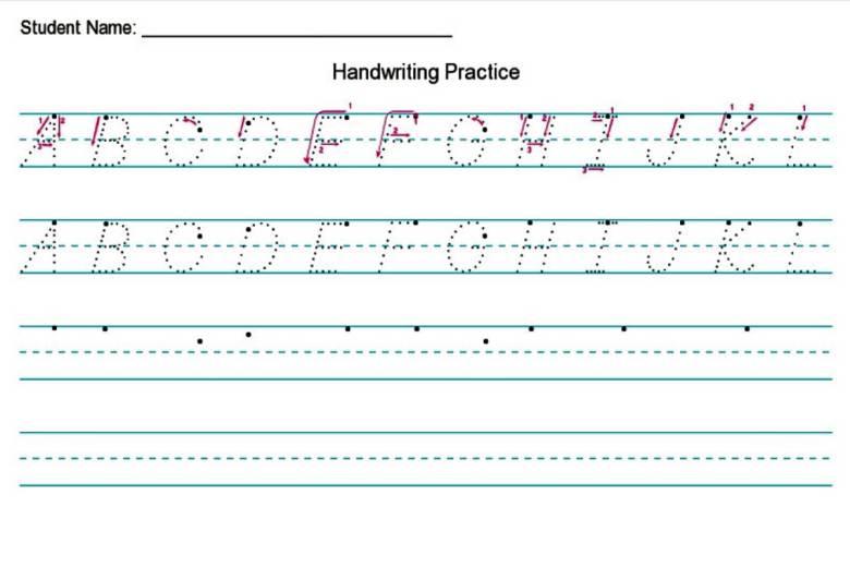 Handwriting Worksheet Creator {Free}
