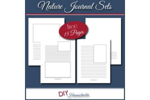Nature Journal Notebooking Sets {Free Download}